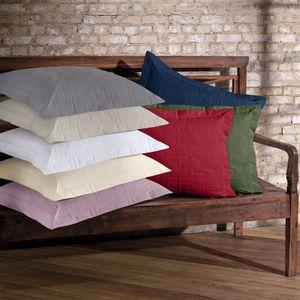 Porta Travesseiro em Matelassê com Aba - Avulso 200 fios - Buettner - Tintos