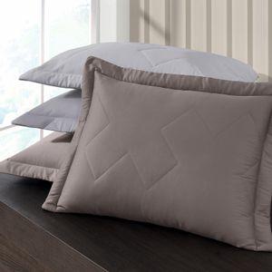 Porta Travesseiro com Aba Avulso 300 fios 100% Algodão combina com Edredom Buettner Platine Color