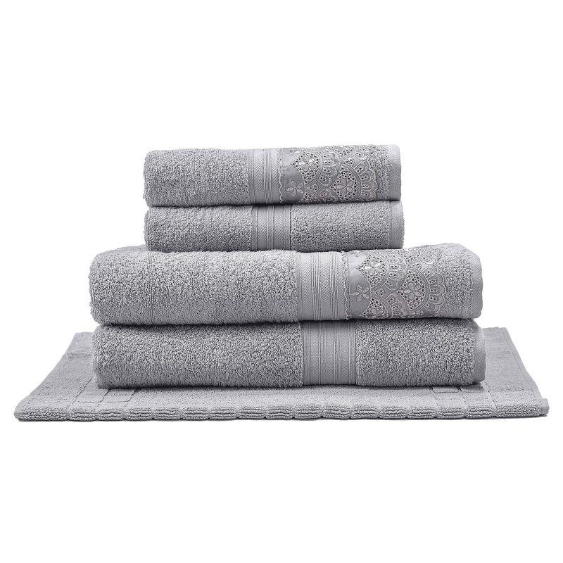 jogo-de-toalhas-com-renda-5-pecas-em-algodao-egipcio-500-gramas-buettner-cadence-cor-cinza-principal