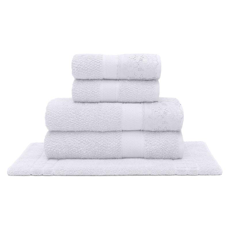 jogo-de-toalhas-5-pecas-em-algodao-500-gramas-por-metro-quadrado-e-aplicacao-de-renda-buettner-daisy-cor-branco-principal
